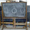 "Floor Standing 82""X72""Flip Over Blackboard"