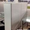 "Ribbed Ali 'ycami' 5'2"" X 6' Wide 2 Door Cabinet With White  Glass Top"