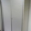 "Ribbed Ali 'ycami' 6' 4"" X 3' 3"" Wide 2 Door Cabinet With White Glass Top"