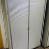 "Ribbed Ali 'ycami' 5' 2""X 3' 3"" Double Door Cabinet With White Glass Top"