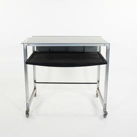 Dimpled Ali Frame  Black  Shelf Computer Desk
