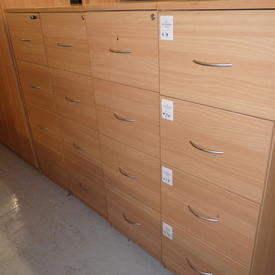 Ffc Beech 4 Drawer Filing Cabinet