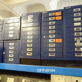 Assorted 5 Drawer Metal Index Cabinets