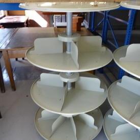 Beige Metal Rotadex Floor Stands