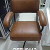 50'S Swivel Brown [Recovered] Tubular Frame Elbow  Chair