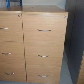 Ffc Oak Balancia Grey Side 3 Drawer Filing Cabinet