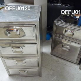 4 Drawer Chrome German Filing Unit