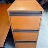 Km 3 Drawer Sapele Filing Cabinets
