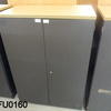 4' Dk Graphite 2 Door Cupboard With Beech Top