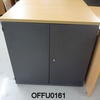 3' Dk Graphite 2 Door Cupboard With Beech Top