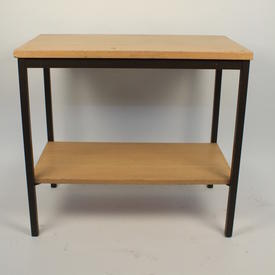 2'x18'' Wood/Metal 2 Tier Office Table