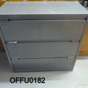 Light Grey Metal Wide Lateral 3 Drawer Filing Cabinet