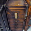 Period Oak 30's 5 Drawer Index Cabinet 36cmx41cmx75cm