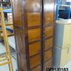7' Dark Oak Panelled Front Ofco 2 Door Cupboard