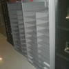 Low Grey Metal Pigeonhole Unit