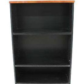 Mid Cherry & Charcoal Kos 4' Open Shelf Unit
