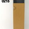 Ffc Oak & Grey Curved Top Balancia Slim 1 Door Cupboard