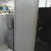 7' Pale Grey Metal Tall Tambour Door Cupboard