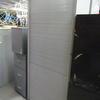 7' Pale Grey Metal Tall Tambour Door Cupboard