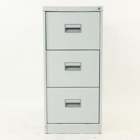 Silverline Pale Grey 3 Drawer Filing Cabinet