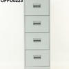Silverline Pale Grey 4 Drawer Filing Cabinet
