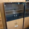 Beech & Smoked Glass 5' X 3' 4 Door Cupboard