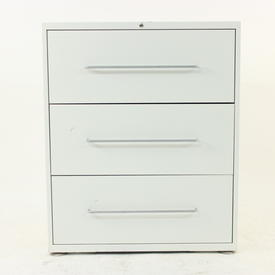 80 Cm White Metal 3 Drawer Lateral Mkb Filing Cabinet