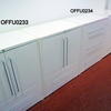 80cm White Metal 2 Door 1 Drawer Mkb Cupboard