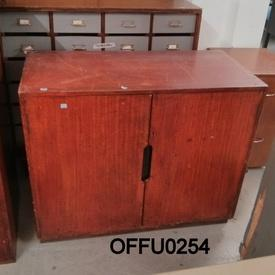 "2' 10"" X 3' Low Devon Teak 2 Door Cabinet[Stained]  (50S)"