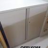 "3'w X 3'4""H  L/Grey Metal 2 Door Silverline Recessed  Handle Cupboard"