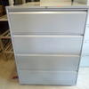 Pale Grey Metal 4  Drawer Wide Lateral Mkb File Cabinets