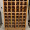 5' Oak 54 Section Pigeon Hole Unit