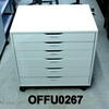 White 6 Drawer Multi  Drawer, Low Wide  Pedestal Size