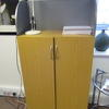 Ffc Oak & Grey Curved Top Balancia Slim 2 Door Cupboard