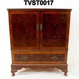 Walnut 2 Door 1 Drawer Tv Cabinet