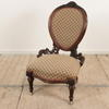 Carved Mahogany Victorian Ladies Chair, Fawn & Rose Pattern  (Y)