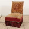Red And Gold Carpet Bag Easy Chair With No Arms  (Y)