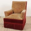 Red And Gold Carpet Bag Easy Chair  (Y)