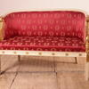 White & Gilt Tub Style 2 Seater Sofa With Swan Shape Arms, Red And Gold Upholstery (Y)
