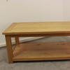 4' Classic Oak Rectangular 'lyon' 2 Tier Coffee Table