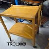 Oak 2 Tier Tea  Trolley On Castors