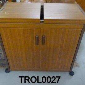 Teak 2  Door Hostess Trolley  (50s)