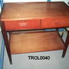 Teak 2 Tier 2 Drawer 2 Tier G Plan Side Table On Castors  (50s) 30cmx40cmx67cm