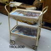 Gilt 'constable Print' 2 Tier Trolley