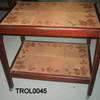 Dark Oak Tiled Top 2 Tier Trolley