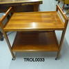 Teak 2 Tier Trolley On Castors  (50s)
