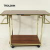 Brass And Glass/Wood Effect 2 Tier Zevi Trolley