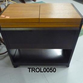 Teak, Smoked Glass  Door Hostess Trolley  (50S)