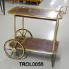 Gilt& Rosewood Formica 2 Tier 'cart' Trolley