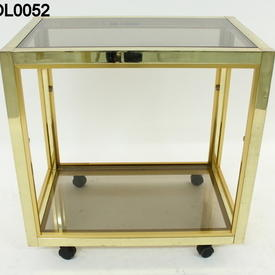 Zevi Brass/Smoked Glass Cocktail Trolley